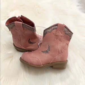 Other - NEW! (Toddler) Dusty Pink Glitter Cowgirl Boots